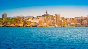 Panorama de Marsella del archipiélago de Frioul Marsella, ` Azur, Francia de Provence-Alpes-Cote d foto de archivo libre de regalías