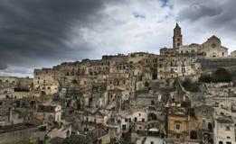 Panorama de Matera, Italia Imagenes de archivo