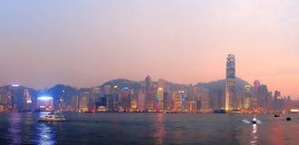 Panorama de matin de Hong Kong Image libre de droits