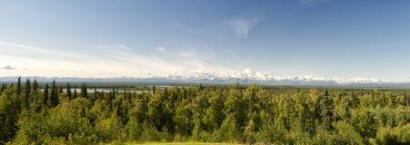Panorama de Mc Kinley de bâti de parc de Denali Photos libres de droits