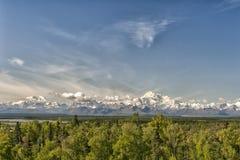 Panorama de Mc Kinley de bâti de parc de Denali Photographie stock libre de droits