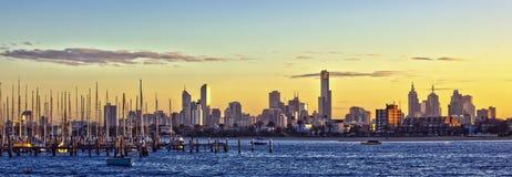 Panorama de Melbourne Imágenes de archivo libres de regalías