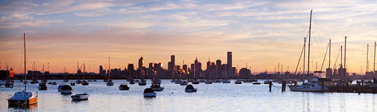 Panorama de Melbourne Images libres de droits