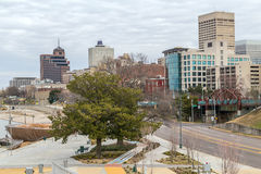 Panorama de Memphis du centre, Tennessee de l'atterrissage de rue de Beale photo libre de droits