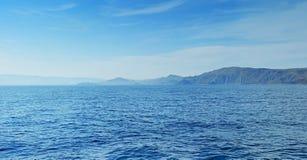 Panorama de mer Photographie stock