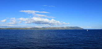 Panorama de mer (Croatie) Image stock
