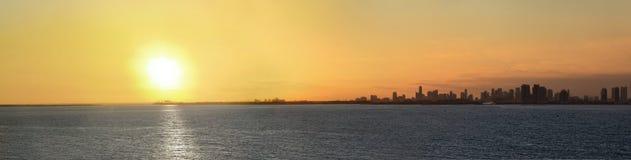 Panorama de Miami Imagens de Stock