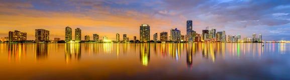 Panorama de Miami imagenes de archivo