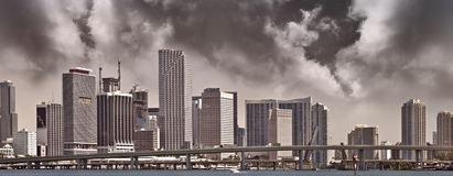 Panorama de Miami céntrica Fotografía de archivo libre de regalías