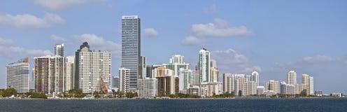 Panorama de Miami Florida de edifícios da baixa Fotos de Stock Royalty Free