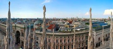 Panorama de Milan Photos stock