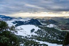 Panorama de Milou d'Ifrane, Maroc Image stock