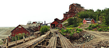 Panorama de mine de Kennecott Images libres de droits