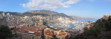 Panorama de Mónaco Imágenes de archivo libres de regalías