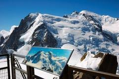 Panorama de Mont Blanc Imágenes de archivo libres de regalías
