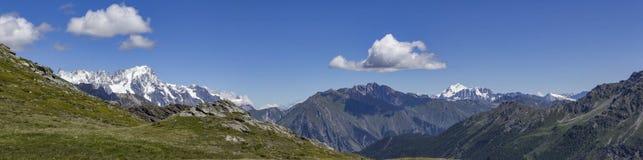 Panorama de Mont Blanc de Muret Fotografia de Stock Royalty Free