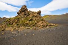 Panorama de montañas islandesas Fotos de archivo libres de regalías