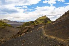 Panorama de montañas islandesas Imágenes de archivo libres de regalías