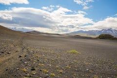 Panorama de montañas islandesas Foto de archivo libre de regalías
