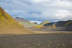 Panorama de montañas islandesas Fotografía de archivo libre de regalías