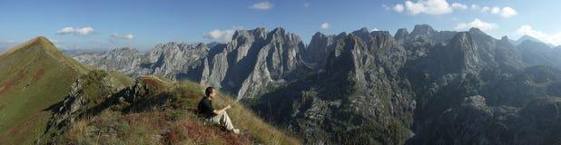 Panorama de montagne Image libre de droits