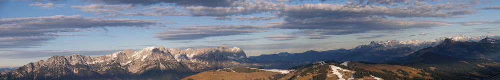 Panorama de montagne Photos stock