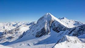 Panorama de montagne dans les Alpes de Stubai photos stock
