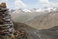 Panorama de montagne dans les alpes otztal, Autriche Photos libres de droits