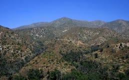 Panorama de montagne de Brown Photo libre de droits