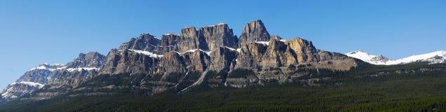 Panorama de montagne de château Photo libre de droits