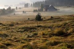 Panorama de montagne de Jizera, République Tchèque Photos stock