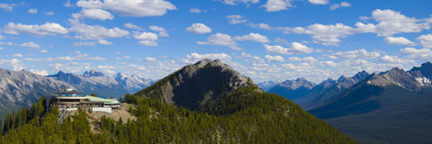 Panorama de montagne de soufre Photos stock