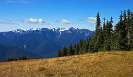 Panorama de montagne olympique Photographie stock
