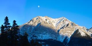 Panorama de montagne rocheuse Images libres de droits