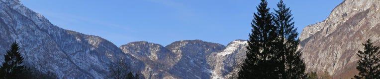 Panorama de montagnes Images libres de droits