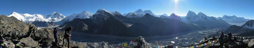 Panorama de montagnes Images stock