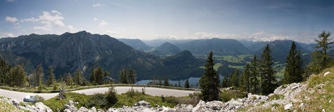 Panorama de montagnes Photo stock