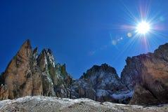 panorama de montagnes de l'Italie de dolomiti Image stock