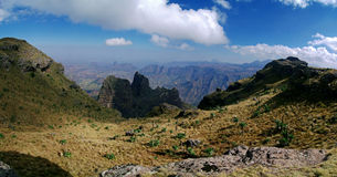 Panorama de montagnes de Simien Photo stock