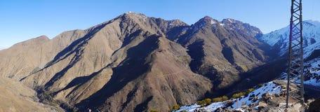 Panorama de montagnes du Maroc Photographie stock libre de droits