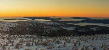 Panorama de montanhas gigantes/Karkonosze Imagem de Stock Royalty Free