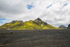 Panorama de montanhas islandêsas Fotografia de Stock Royalty Free