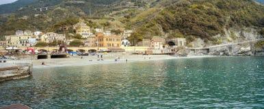 Panorama de Monterosso Imagen del color Fotografía de archivo libre de regalías