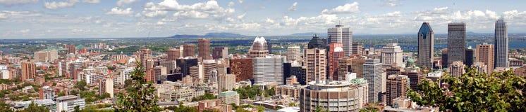 Panorama de Montreal Fotos de archivo libres de regalías