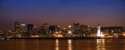 Panorama de Montreal Nite Imagen de archivo libre de regalías