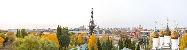 Panorama de Moscú céntrico - centro de negocios internacional, animal doméstico imágenes de archivo libres de regalías