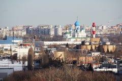 Panorama de Mosc? en el distrito administrativo de Pechatniki imagenes de archivo