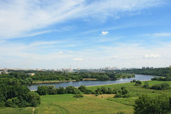 Panorama de Moscou Images libres de droits