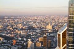 Panorama de Moscou d'une taille Coucher du soleil images stock