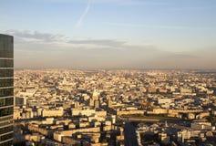 Panorama de Moscou d'une taille Coucher du soleil photo stock